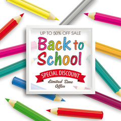 Colored Pencils White Frame Back to School Discount