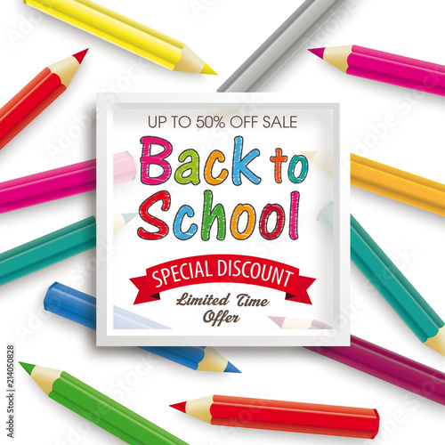 1ab78c7c614e Colored Pencils White Frame Back to School Discount