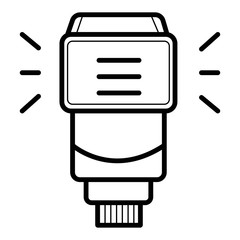 Camera flash rounded icon.