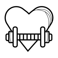 Heart fitness flat icon