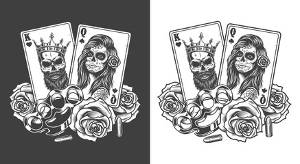 Gangsta concept with playing card