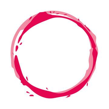 circular watermark paint wine