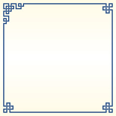 Traditional Chinese Blue Porcelain And White Jade Colors Background, The Great Wall Frame