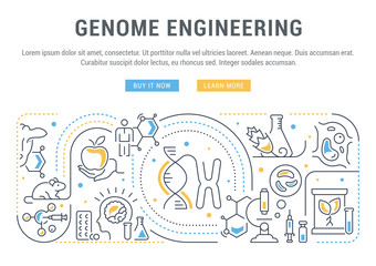 Linear Banner of Genome Engineering.