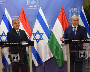 Israeli PM Benjamin Netanyahu Meets Hungarian PM Viktor Orban