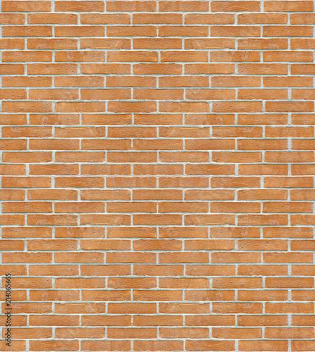 New Italian Brick Wall Background Without Plaster Seamless Pattern