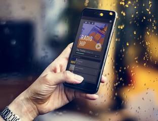 Radio music streaming on a smartphone