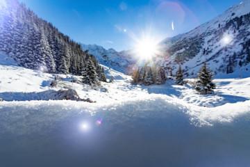 winter time landscape tirol austria