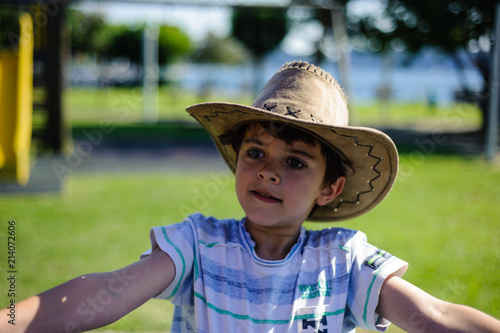 8a22e80026dc3 portrait of a 10 year old boy with a cowboy hat