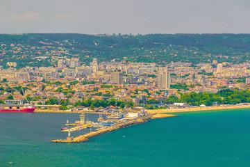 Postcard view of Varna at midday