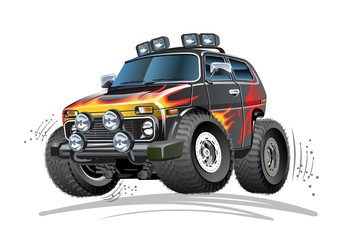 Cartoon 4x4 car