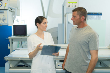 radiologist nurse and the patient
