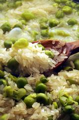 Pisum sativum Risotto ai piselli med ärter ризотто с горохом Arroz con guisantes riz aux petits pois