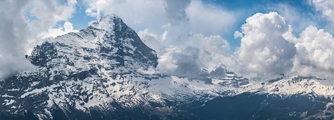 Switzerland, panoramic view from First to Eiger