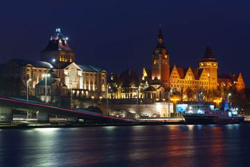 Szczecin at night