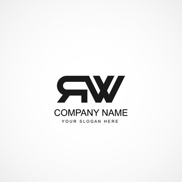 Initial Letter RW Logo Template Design