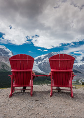 Reverse View of Red Chairs Looking Out