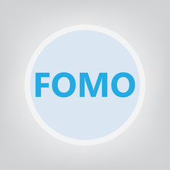 FOMO (fear of missing out) concept- vector illustration