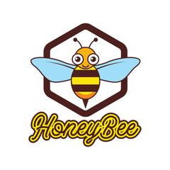 bumble bee / honey bee logo, vector illustration