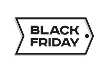 Black Friday label. Discount tag. Vector design element for you business projects