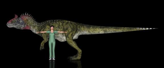 恐竜縮尺図・クリョロフォサウルス