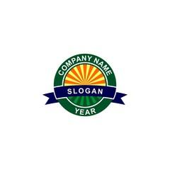 Landscape field badge logo.