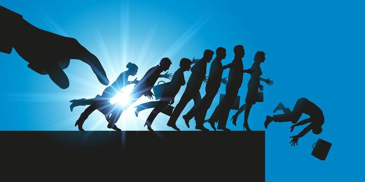 licenciement - entreprise - emploi - compétitivité - concept - effet domino - licencier - plan social