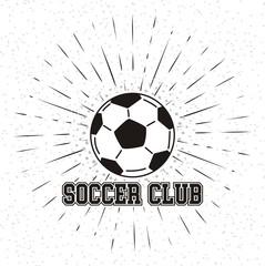 Soccer club , vector illustration