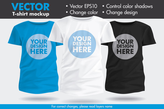 Replace Design your Design, Change Colors Mock-up Tee Template Kids