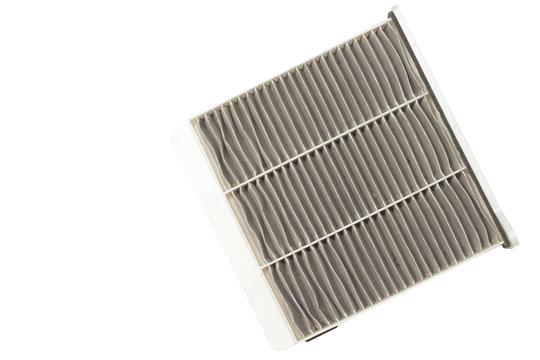 ๊Used part and tool Air Purifier filter Panel Dust trap in the air car. on isolate white background and clipping path.