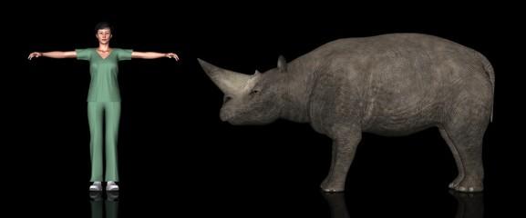 恐竜縮尺図・アルシノイテリウム