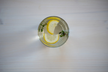 photo of a drink in a transparent glass on a light background
