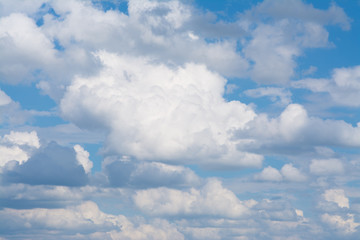 Clouds float in the sky