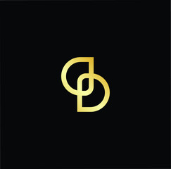 Outstanding professional elegant trendy awesome artistic black and gold color DS SD initial based Alphabet icon logo.