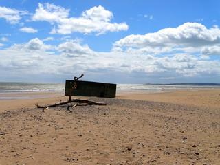 Bunker und Befestigungen im donmouth local nature reserve