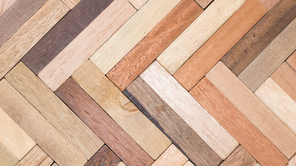 Obraz wood specimen from different tropical hardwood that grow in Indonesia. seamless wood parquet texture. natural background - fototapety do salonu
