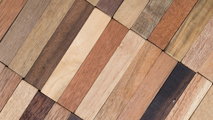 wood specimen from different tropical hardwood that grow in Indonesia. seamless wood parquet texture. natural background Wall mural