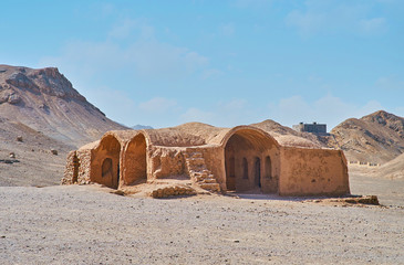 Adobe ruins of ancient Khaiele, Yazd, Iran