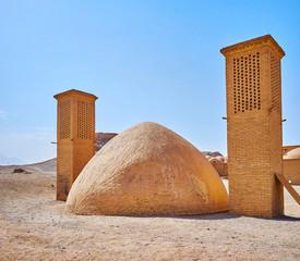 Ancient evaporating cooler, Yazd, Iran