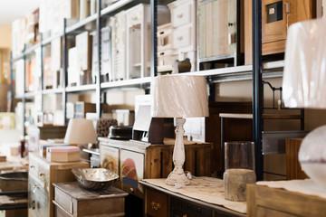 Design furniture offered for sale in secondhand shop