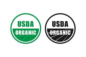 Fototapeta usda organic certified stamp symbol no gmo vector icon