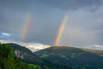 Double Rainbow in the Austrian Alps