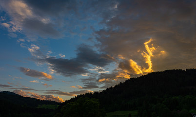 Glowing Clouds in the Austrian Alps
