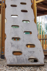 climbing wall in the rope children's town
