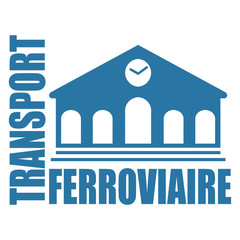 Logo transport ferroviaire.