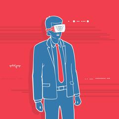 Vector Illustration Symbol Virtual Reality