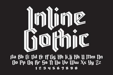 Inline gothic alphabet