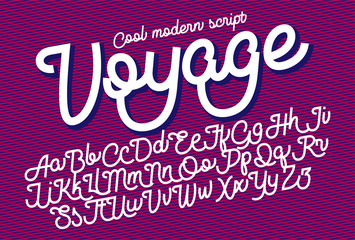 Voyage cool modern script font