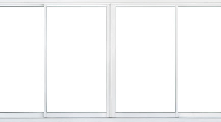 5a76f763bc48 Real modern windows set isolated on white background