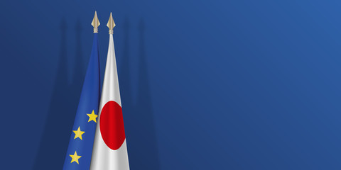 drapeau - Europe - Japon - européen - japonais - présentation - fond - économie - politique - accord